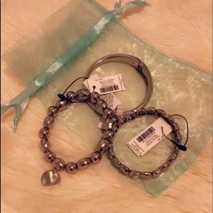 NWT silver bracelet set!:)